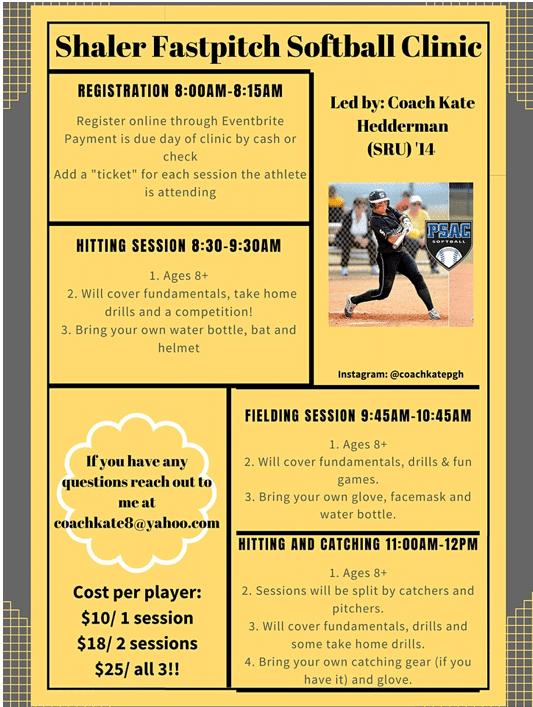 Shaler Softball Clinic 9/19